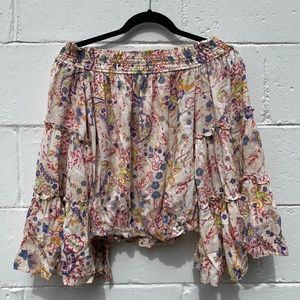 Free People Colorful Summer Shirt